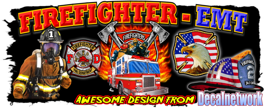 Fire Fighter Emt Ems Rescue Vinyl Decals