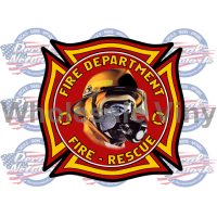 fire rescue shield decal