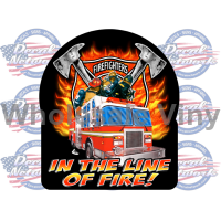 in the line of fire decal