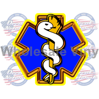 star of life yellow decal