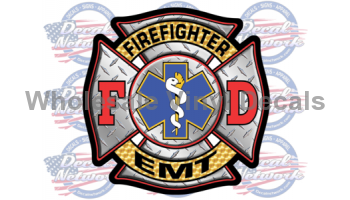 fire fighter men of fire decal