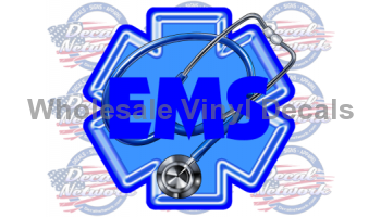 star of life ems decal