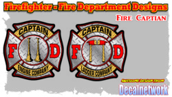 Captain Firefighters Cross decal