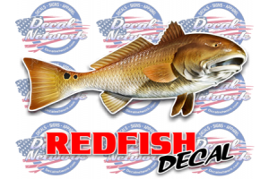 Redfish full color decal
