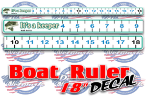 Boat Ruler decal 18""