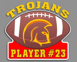 NCH Trojans Color Football