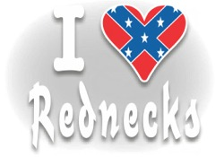 I Love Rednecks Decal
