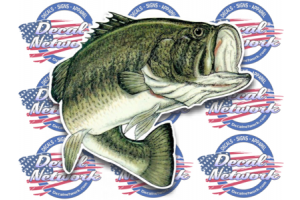 Large mouth bass 2 decal