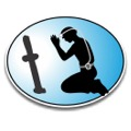 Praying miner Reflective Hard Hat decal