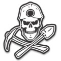 Skull Coal Miner Reflective Hard Hat decal