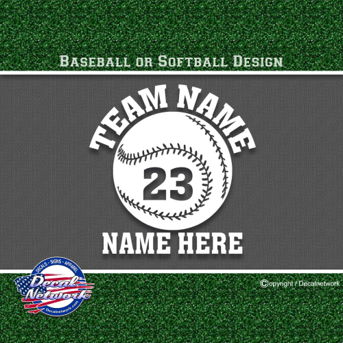 baseball softball custom sports decals