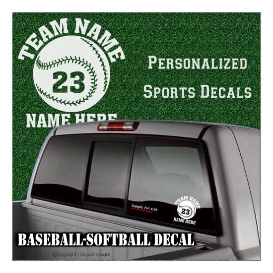personalize softball custom baseball decal