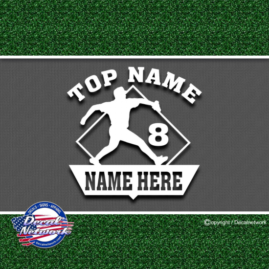 baseball custom sports decals
