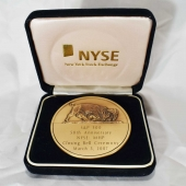 bronze medallion 50th anniversary new york stock exchange