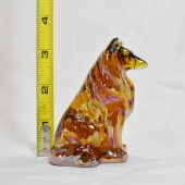 collie dog glass mosser amber carnival