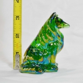 collie dog glass mosser hunter green carnival