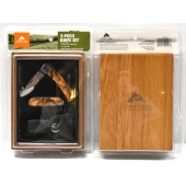 ozark trail 2 piece knife set wood box