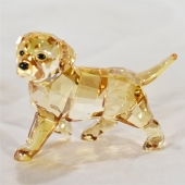 Swarovski Golder Retriever puppy crystal collectible