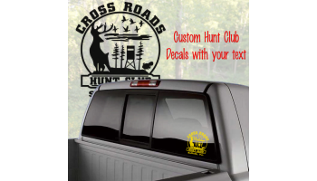 custom hunting club decal truck window