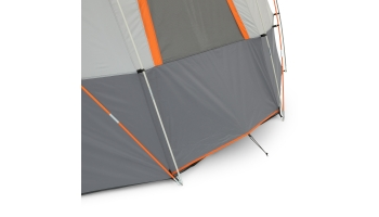 ozar trail 12 person base camp tent with light