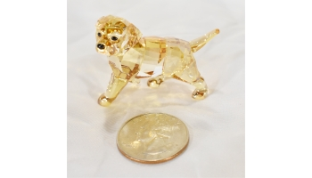 Swarovski Retired Golden Retriever puppy crystal