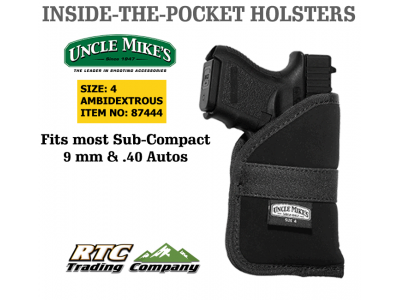 UNCLE MIKES inside pocket holster size 4