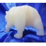 arved alabaster white polarbear hand carved statue figurine