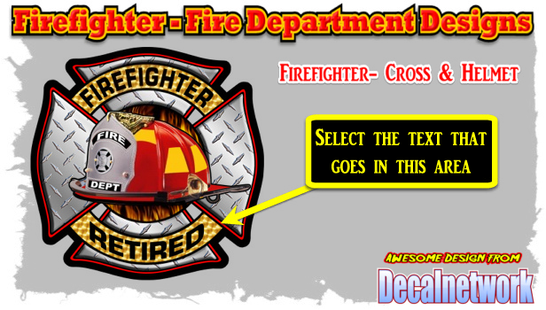 Firefighter Cross Helmet decal