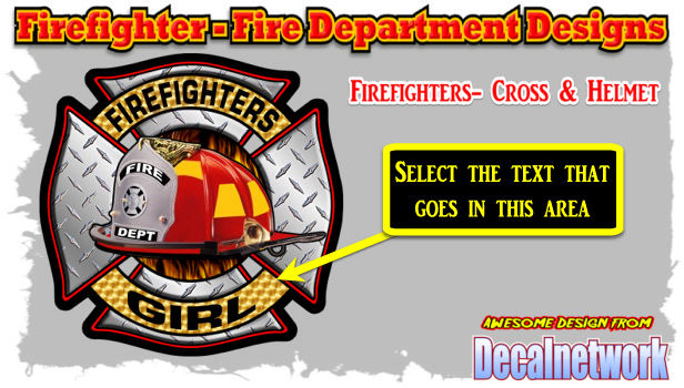 Firefighters Cross Helmet decal