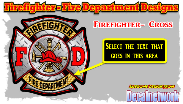 Firefighters Cross decal