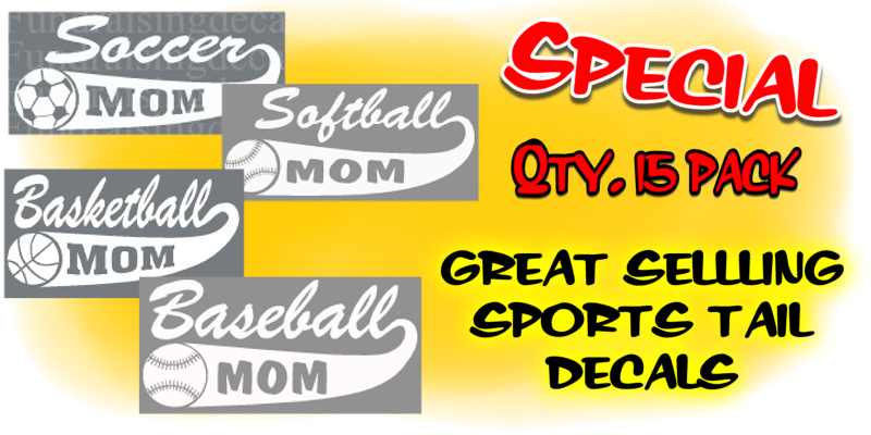 Sports Tail decals SPECIAL